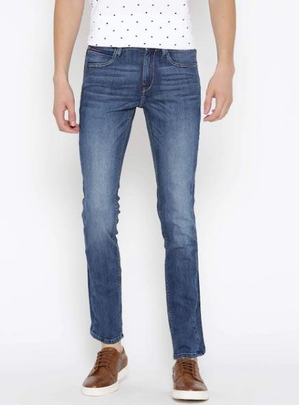 Lee Men Blue Bruce Fit Low-Rise Clean Look Jeans