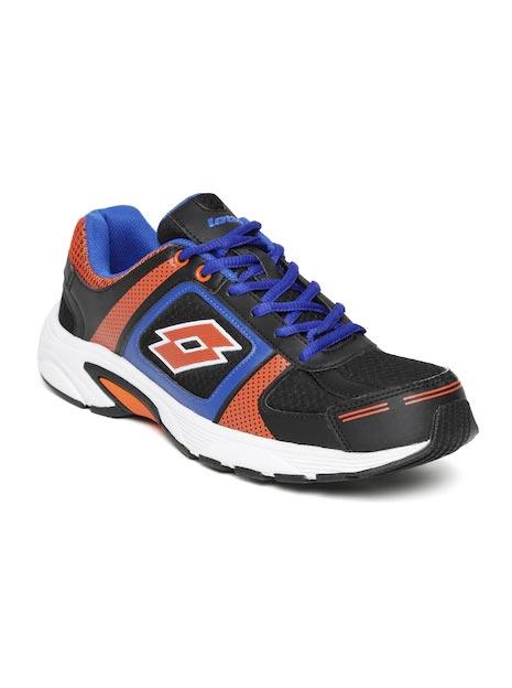 Lotto Men Black & Orange Running Shoes