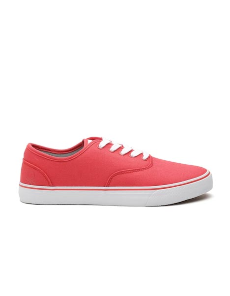 United Colors of Benetton Men Pink Solid Sneakers