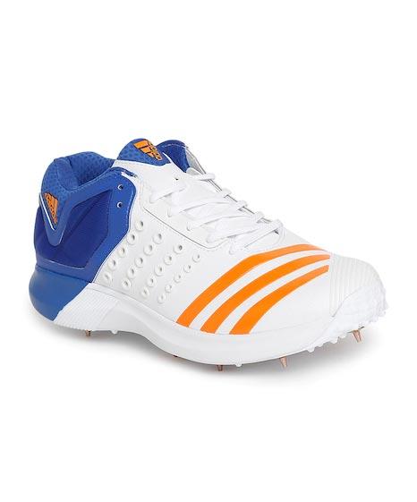 Adidas Men White Adipower Vector Mid Cricket Shoes