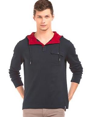 Nautica Long Sleeve Hooded T-Shirt