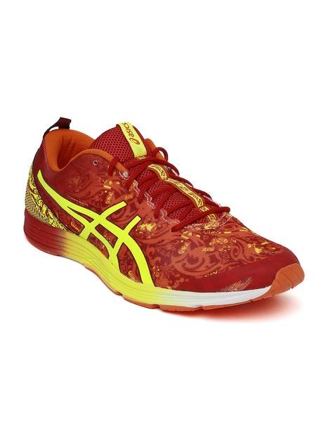 ASICS Men Red & Yellow Printed Running Shoes
