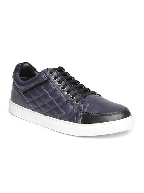 Ruosh Men Navy Leather Sneakers