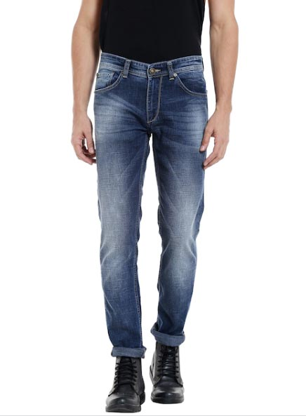 SPYKAR Men Blue Tapered Fit Low-Rise Clean Look Jeans