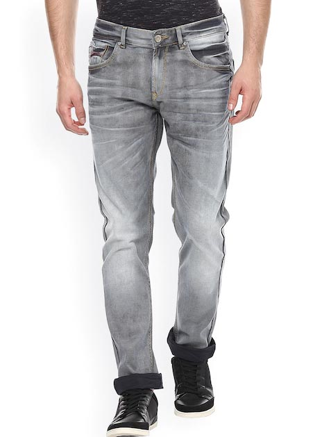 SPYKAR Men Grey Super Skinny Fit Low-Rise Clean Look Jeans