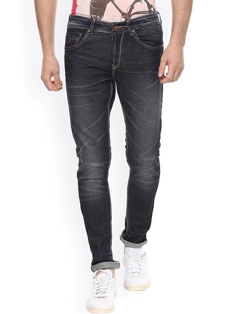 SPYKAR Men Navy Super Skinny Fit Low-Rise Clean Look Jeans