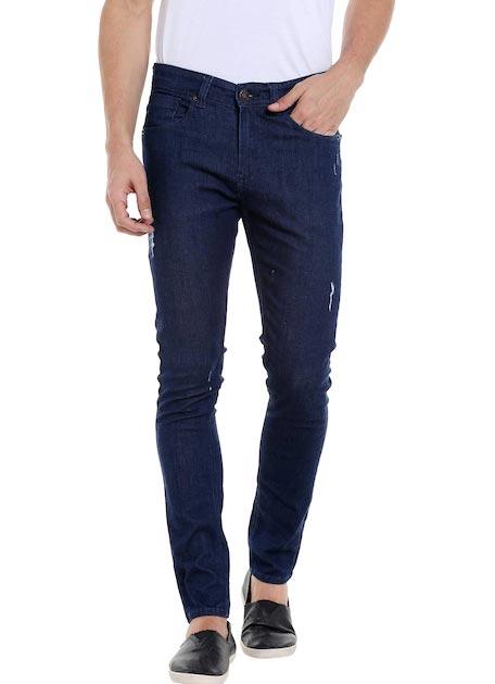 SPYKAR Men Navy Super Skinny Fit Low-Rise Mildly Distressed Jeans