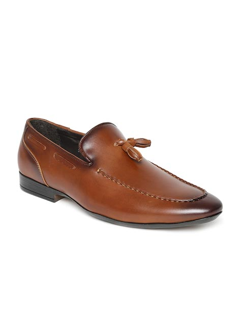 San Frissco Men Tan Brown Semiformal Shoes