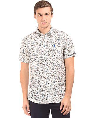 U.S. Polo Assn. Short Sleeve Floral Print Shirt