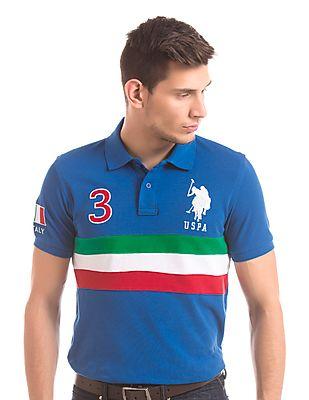 U.S. Polo Assn. Slim Fit Numeric Patch Polo Shirt