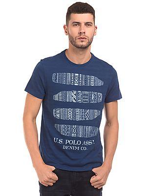 U.S. Polo Assn. Denim Co. Surfboard Print Muscle Fit T-Shirt