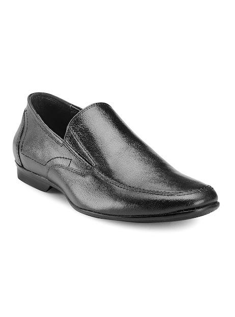 Teakwood Leathers Men Black Leather Formal Shoes