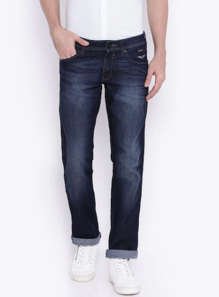 Wrangler Men Blue Tapered Fit Jeans