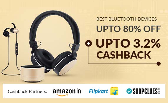 Bluetooth Devices Price List, Offers: 50% Off + 2 25% Cashback | 2019