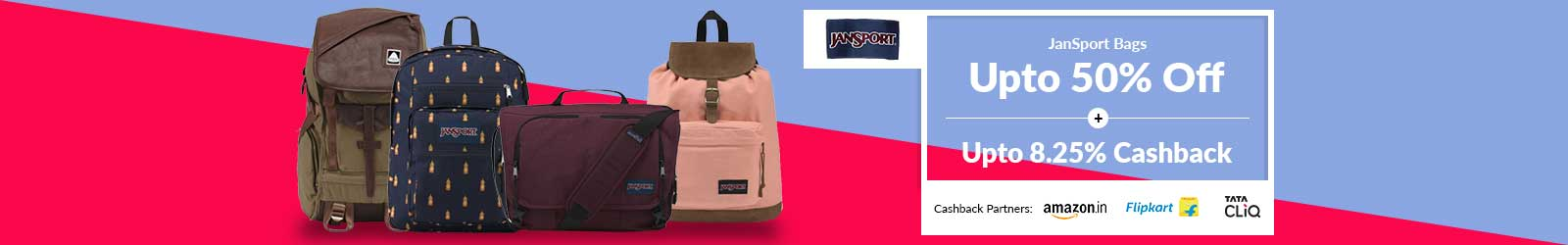 513e9b4b8 JanSport Bags Price List India, Offers: 55% Discount + 10% Cashback, 2019