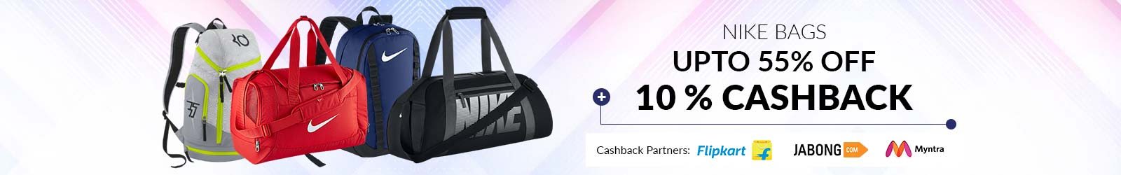 4508d7b6803f98 Nike Bags Price List India, Offers: 55% Discount + 10% Cashback, 2019