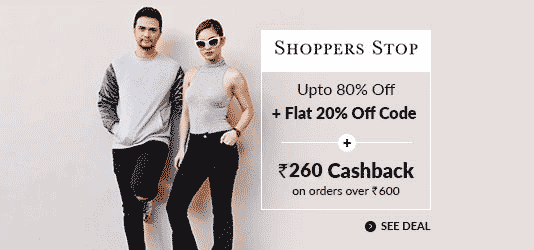 Coupons promo codes cashback offers on 1500 sites cashkaro shoppers stop offers today fandeluxe Image collections