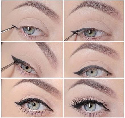 How to apply cat-eye eyeliner?