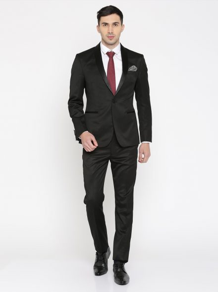 Peter England Black Suit