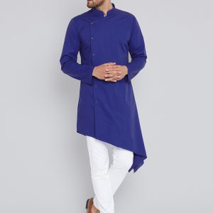 High-Low Kurta Pajama Look