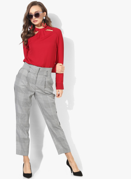 Checked Style Trousers