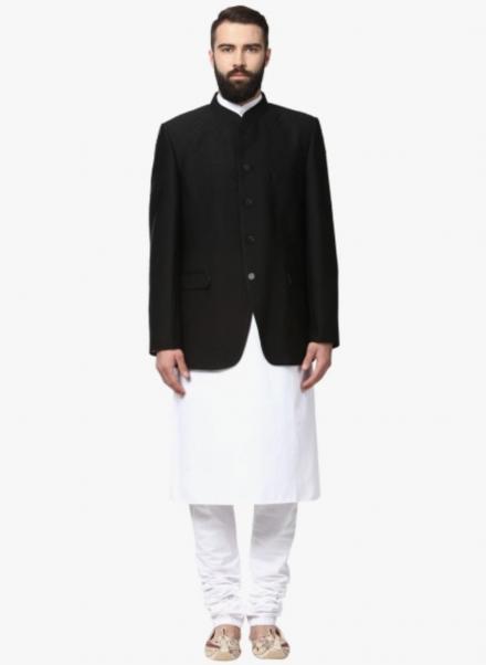 Bandhgala Blazer With Kurta Pajama Set