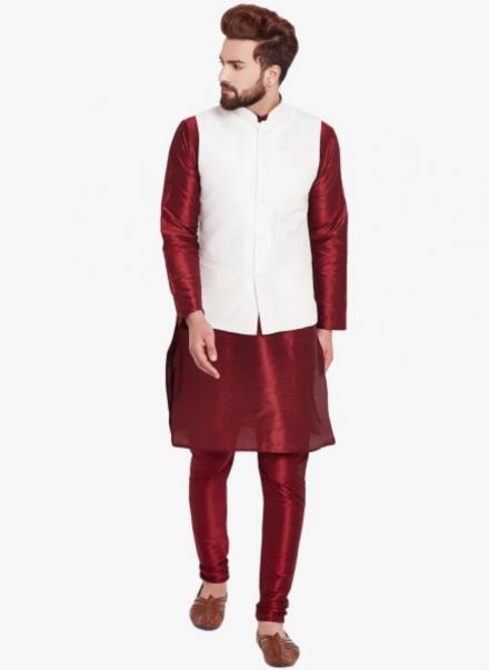 Waistcoat With Kurta Pajama Set