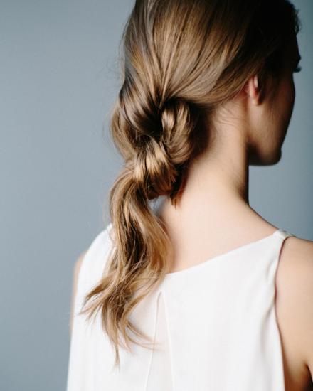 Double Knotted Ponytail