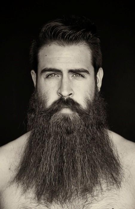 Long Hair Beard Style